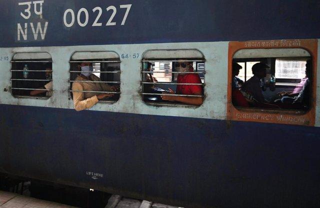 Transporte de trabajadores en India