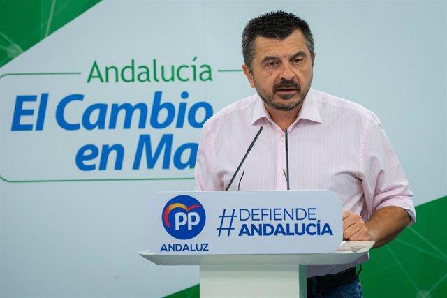 El vicesecretario general del PP-A, Toni Martín, en una imagen de archivo
