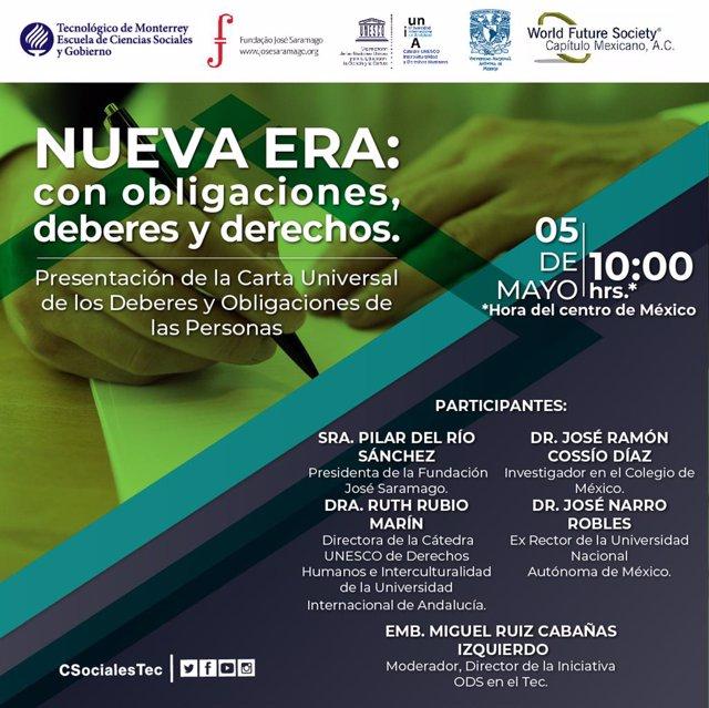 La Cátedra Unesco de la UNIA coorganiza unos 'webinars' sobre la Carta de Derech