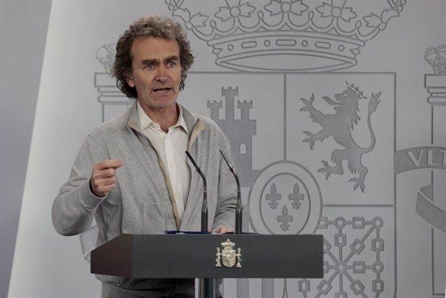 El director del Centro de Alertas y Emergencias Sanitarias, Fernando Simón, en rueda de prensa tras el Comité Técnico de Gestión del Coronavirus. En Madrid, (España), a 30 de abril de 2020.