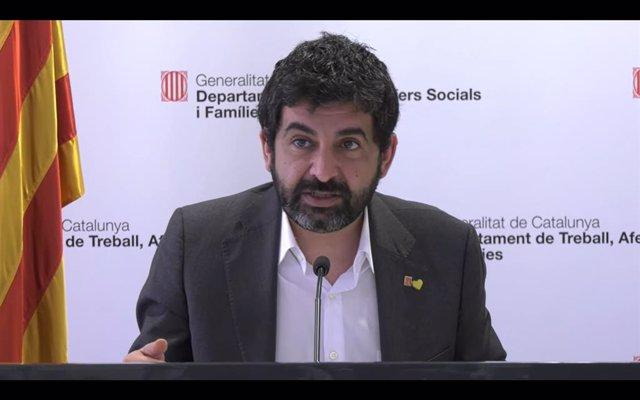 El conseller de Treball, Assumptes Socials i Famílies de la Generalitat, Chakir l'Homrani.