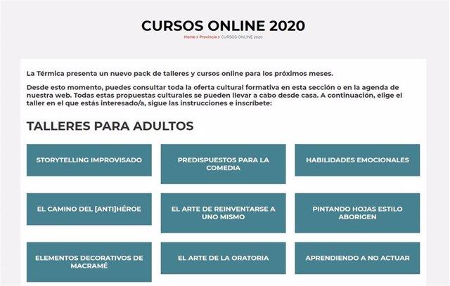 La Térmica cursos y talleres online