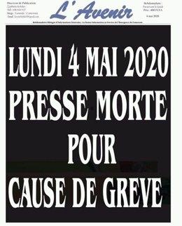 """Camerún.- Decenas de diarios de Camerún secundan una jornada de """"prensa muerta"""""""
