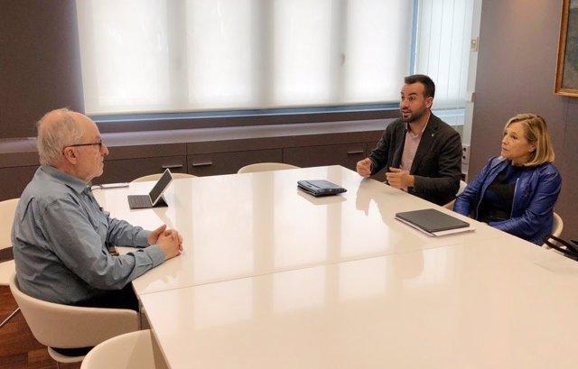 El síndic de Greuges, Rafael Ribó amb Lluís Soler i Joana Ortega (ACM).
