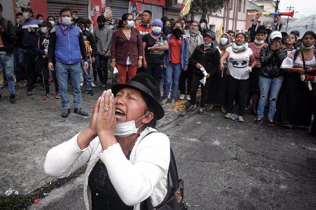 Manifestación de indígenas ecuatorianos (Imagen de archivo)