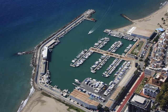 Imagen del puerto de Marbella (Málaga)