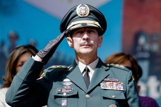 El general Nicacio Martinez durante su etapa como jefe de las Fuerzas Armadas de Colombia