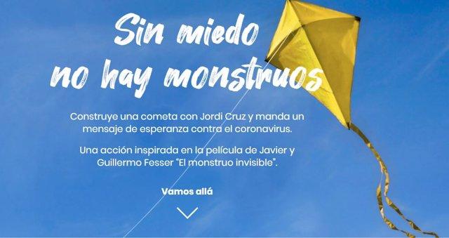 Cartel del concurso 'Cometas contra monstruos' de Acción contra el Hambre.