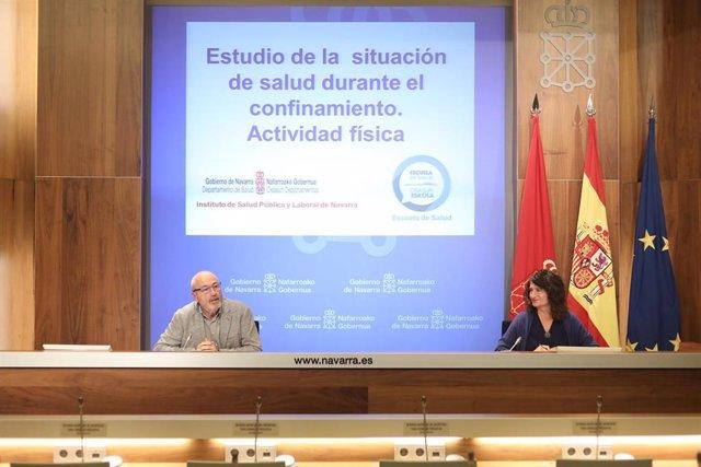 Carlos Artundo y María José Pérez Jarauta en la rueda de prensa