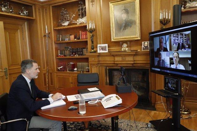 El Rey, en videoconferencia con responsables del Cercle d'Economia