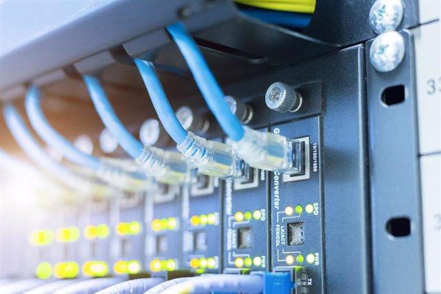 Rack de telecomunicaciones.