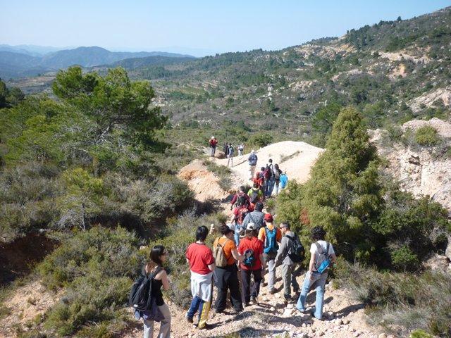Visitants en el Parc Natural del Montsant (Tarragona)