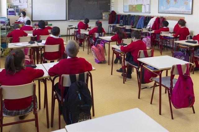 Aula de un colegio concertado de Madrid.