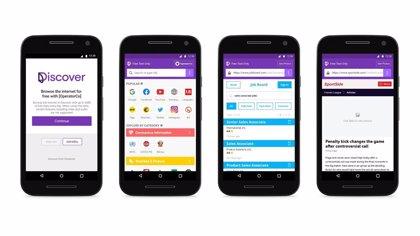Portaltic.-Facebook lanza Discover, una app que permite navegar por webs desde el móvil sin usar datos