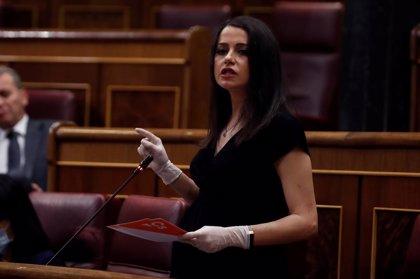 """España.- Arrimadas defiende que Cs es """"útil"""" a los españoles y avisa al Gobierno de que prórroga es para 15 días"""