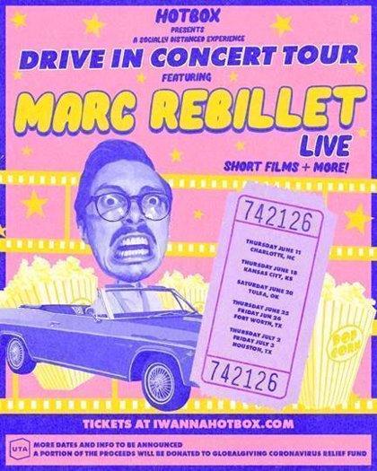Cultura.- El artista de música electrónica Marc Rebillet hará una gira drive-in en formato autocine por Estados Unidos