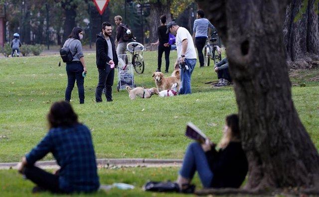 Un parque de Santiago de Chile durante la pandemia de coronavirus