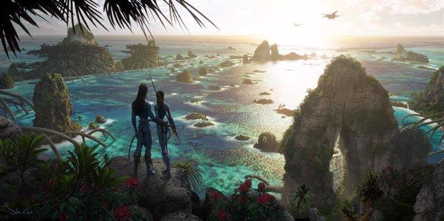 Imagen de un diseño conceptual de la secuela de Avatar