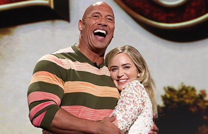 Dwayne Johnson y Emily Blunt, juntos en la película de superhéroes 'Ball and Chain'