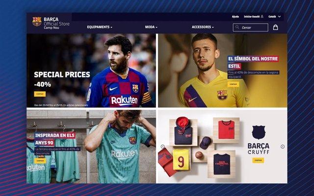 """Fútbol.- El Barça estrena tienda 'online', un """"pilar"""" en su estrategia comercial"""