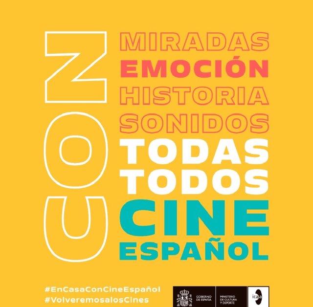 Imagen de la campaña 'Todas, todos, cine español' del Ministerio de Cultura y Deporte