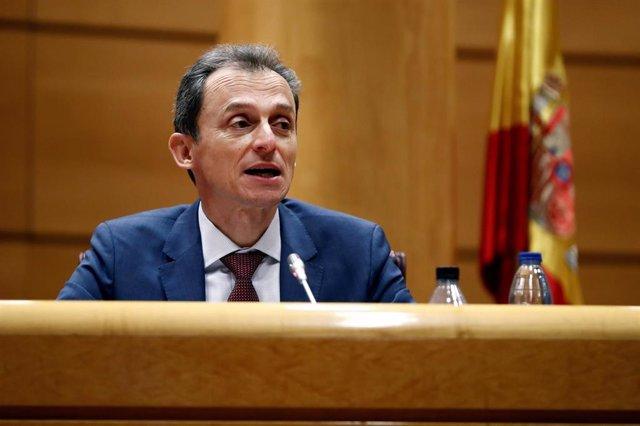 El ministro de Ciencia e Innovación, Pedro Duque, comparece en la Comisión de Ciencia, Innovación y Universidades del Senado para informar sobre las líneas generales de su departamento y las actuaciones relacionadas con la crisis sanitaria del COVID-19