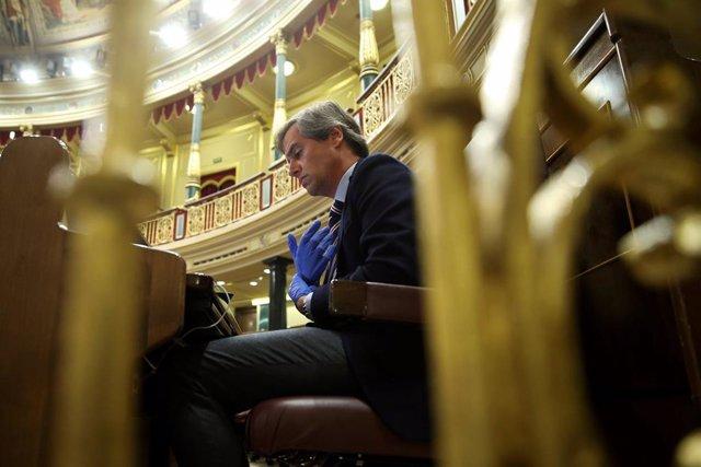 El vicesecretario del PP, Antonio González Terol, durante el pleno celebrado este miércoles en el Congreso de los Diputados en Madrid.