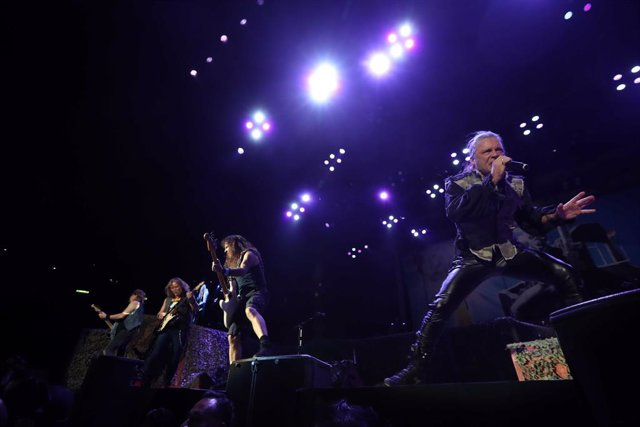 27 September 2019, Mexico, Mexico City: English heavy metal band Iron Maiden preform on stage during their concert at Palacio de los Deportes. Photo: -/El Universal via ZUMA Wire/dpa