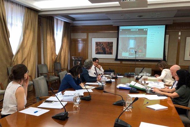 El ministro de Sanidad, Salvador Illa, y la vicepresidenta Teresa Ribera se reúnen con los consejeros de Sanidad de las diferentes CCAA