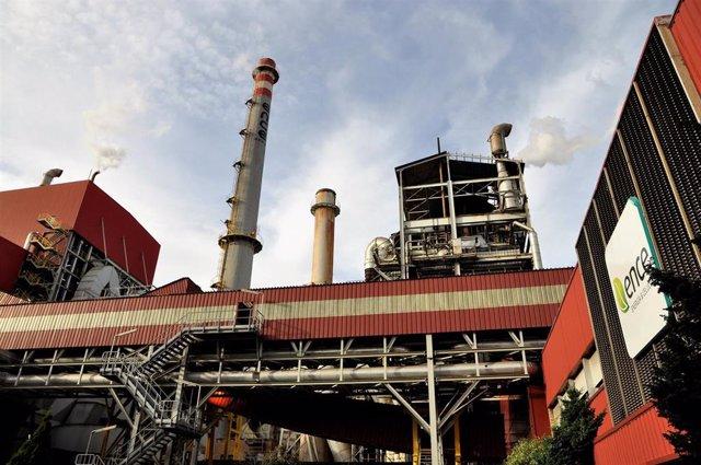 La planta industrial de Ence en Navia.