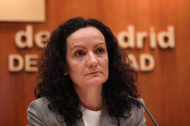 La directora de Salud Pública de la Consejería de Sanidad, Yolanda Fuentes, comparece para informar sobre el primer caso de coronavirus confirmado en Madrid, en la Consejería de Sanidad/ Madrid (España), 26 de febrero de 2020.