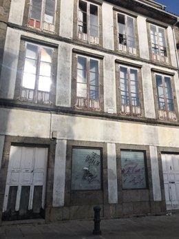 Casa del casco histórico de Santiago okupada durante unas horas
