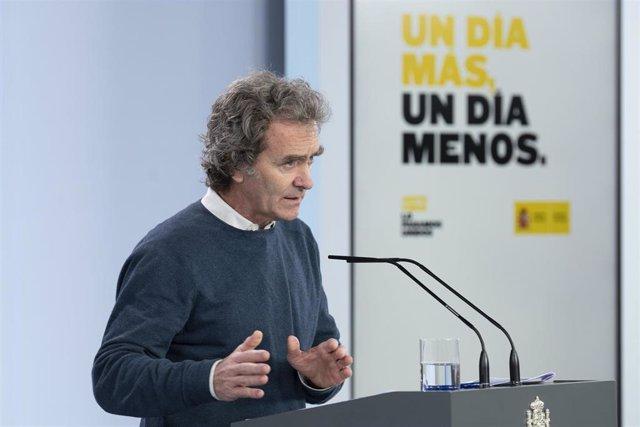 El director del Centro de Coordinación de Alertas y Emergencias Sanitarias del Ministerio de Sanidad, Fernando Simón, comparece en rueda de prensa