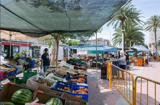 Mercado en Gandia, uno de los municipios que pasa el 11 de mayo a fase 1