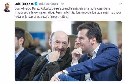 """Tudanca recuerda a Rubalcaba un año después de su muerte: """"Fue uno de los que más hizo por regalar paz a este país"""""""