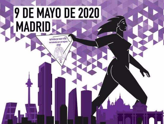 Cartel de la manifestación por la abolición de la prostitución el 9 de mayo de 2020