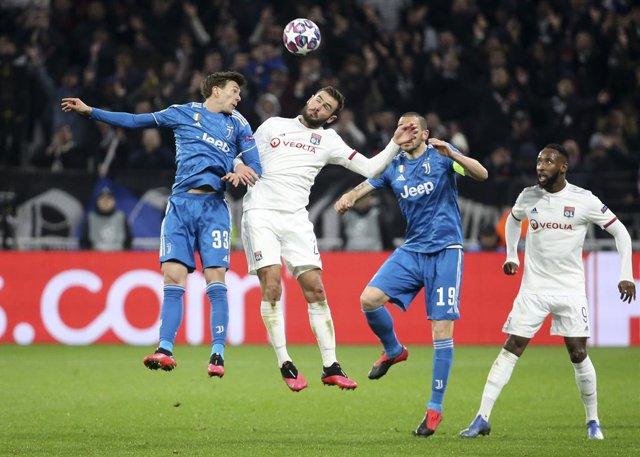 Fútbol/Champions.- El Juventus-Lyon de octavos de final se disputará el 7 de ago