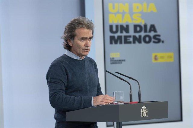 El director del Centro de Coordinación de Alertas y Emergencias Sanitarias del Ministerio de Sanidad, Fernando Simón,