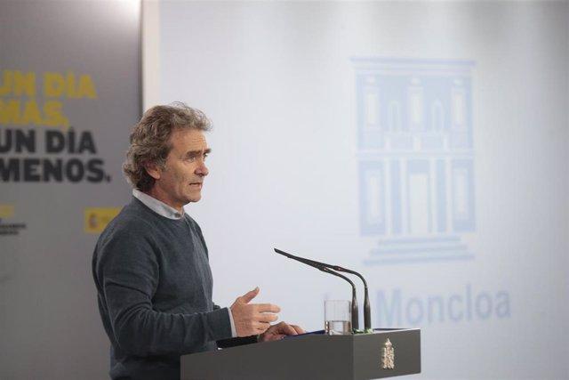 El director del Centro de Alertas y Emergencias Sanitarias, Fernando Simón, en la rueda de prensa del viernes 8 de mayo de 2020