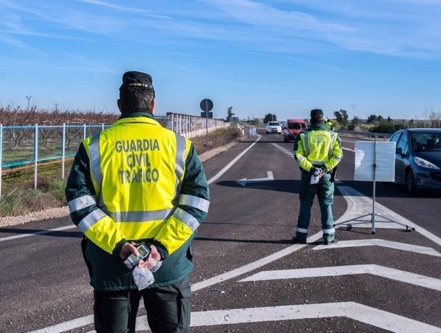 Imagen de recurso de un control anti drogas de la Guardia Civil de Tráfico.