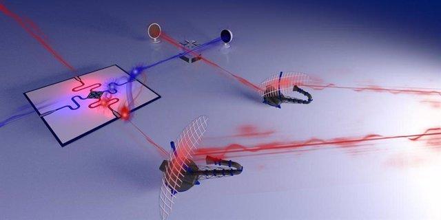 Ilustración de un prototipo de radar cuántico