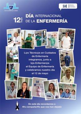 Cartel de SAE por el Día de la Enfermería