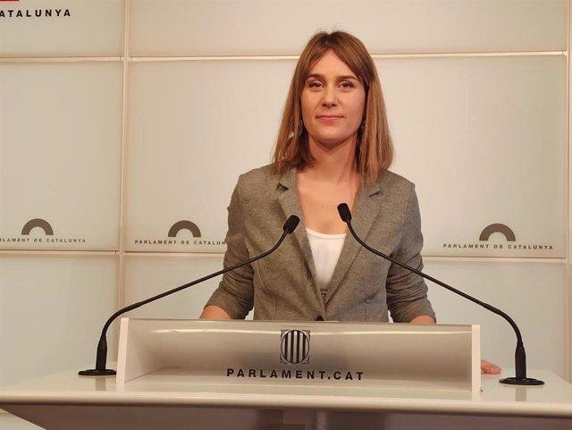 La líder dels comuns en el Parlament, Jéssica Albiach, en una imatge d'arxiu.