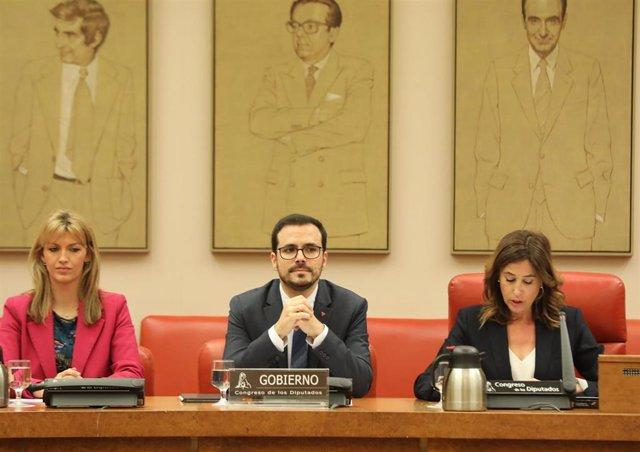 El ministro de Consumo, Alberto Garzón, en el Congreso
