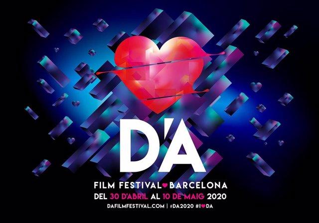 Cartell de l'edició del 2020 del D'A Film Festival, celebrat per Internet a causa del coronavirus