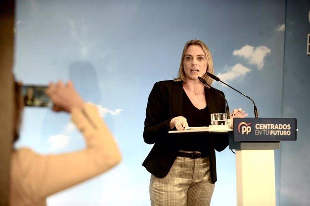 La presidenta del PP de Bizkaia, Raquel González, en un acto