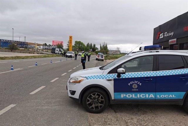 Control de la Policía Local en Cuenca.