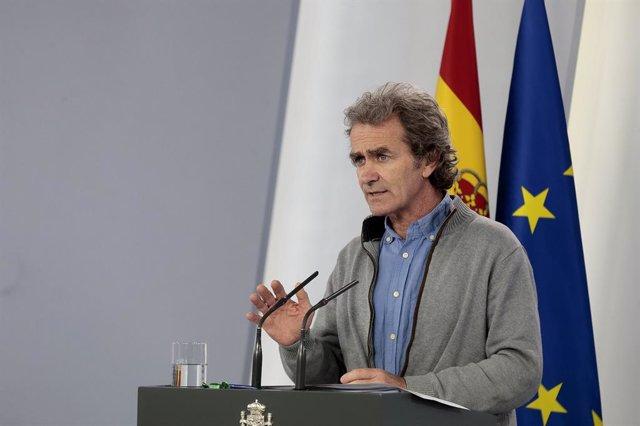El director del Centre de Coordinació d'Alertes i Emergncies Sanitries, Fernando Simón, Madrid (Espanya) 11 de maig del 2020.