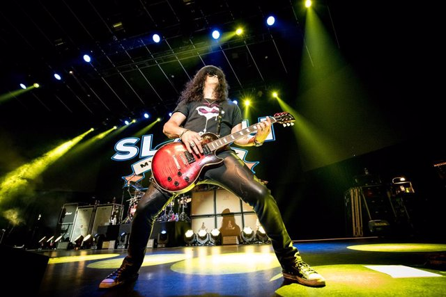 29 July 2019, Canada, Toronto: US former Guns N' Roses legendary guitarist Slash, performs at a concert in the Rebel Club in Toronto. Photo: Igor Vidyashev/ZUMA Wire/dpa