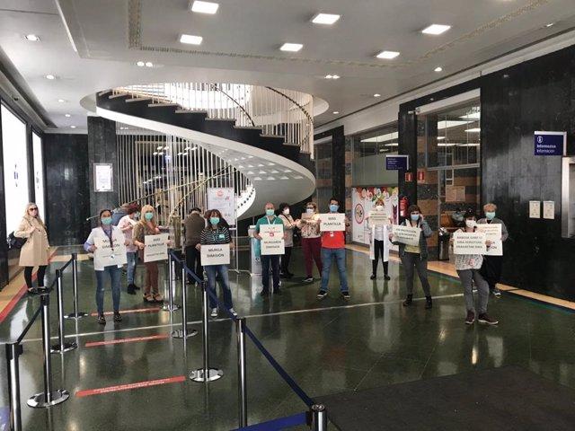 Protesta sindical en el Hospital de Cruces